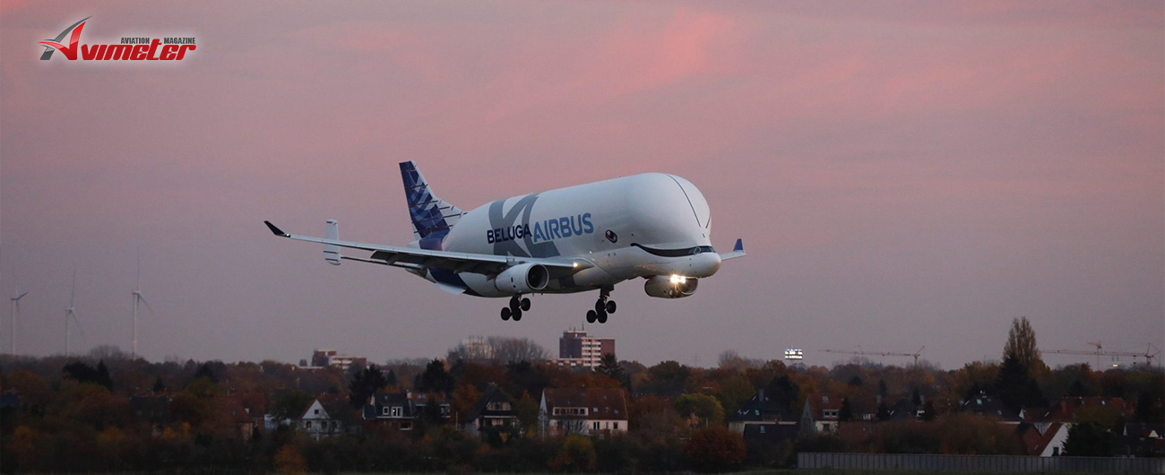 Lächeln! BelugaXL arrives at Airbus' Bremen site for the first time