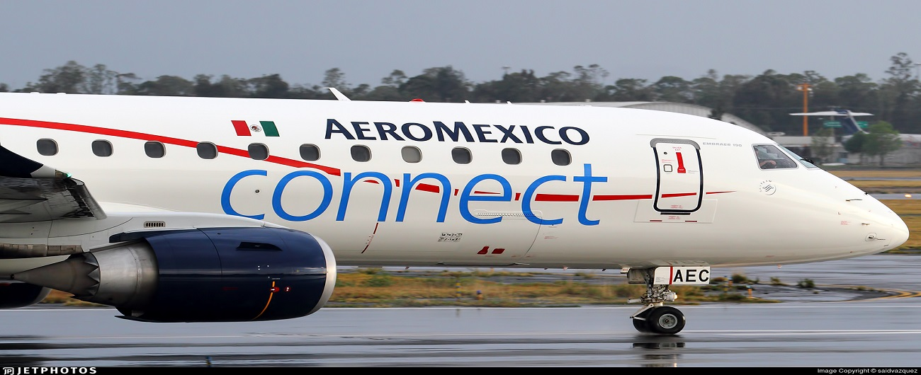 NAC delivered 2 Embraer E190s to Aeroméxico Connect on lease