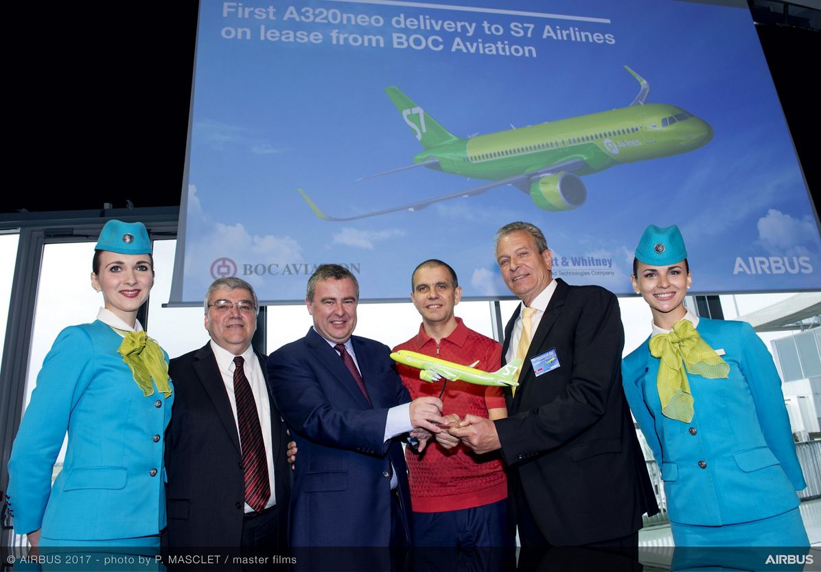 Russia's S7 Airlines takes delivery of maiden A320neo