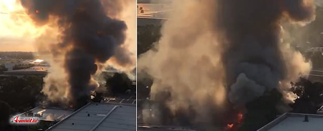 Massive fire breaks next to Sydney Airport