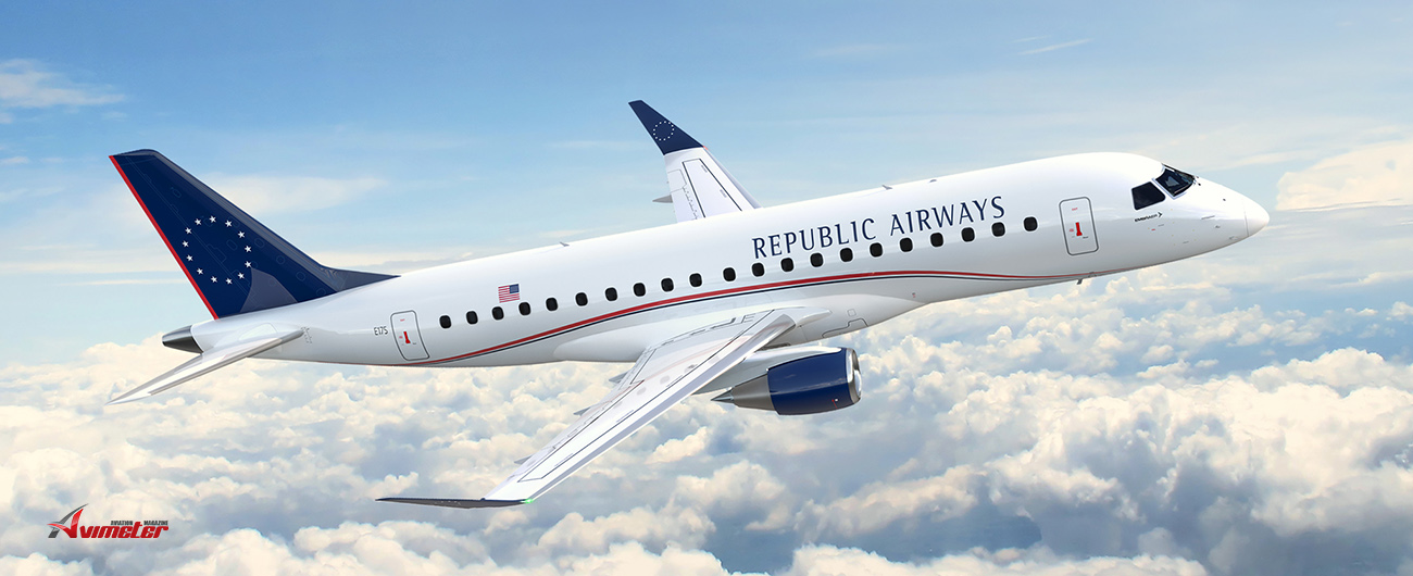 Embraer and Republic Airways Firm Up Order for 100 E175s