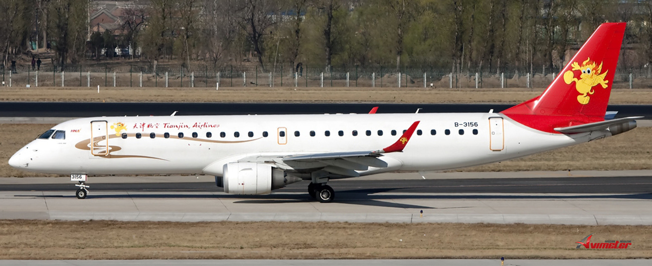 NAC purchased and immediately leased back three Embraer E195 to Tianjin Airlines