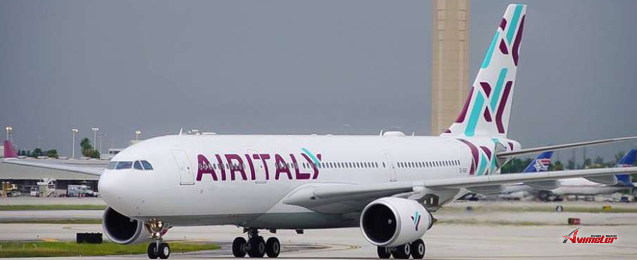 Air Italy's first Milan-Los Angeles flight takes-off