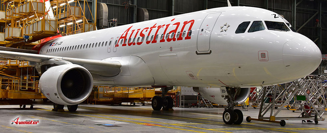 First Additional Austrian Airlines A320 Aircraft Landed in Vienna