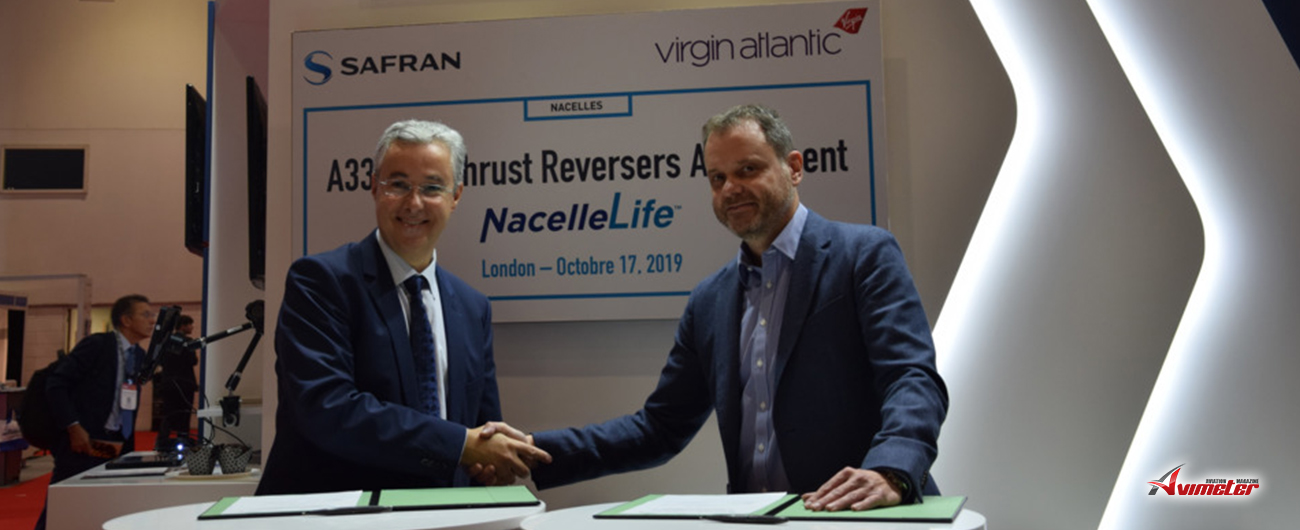 Virgin Atlantic Airways selects Safran NacelleLife MRO services offering for its Airbus A330ceo fleet thrust reversers