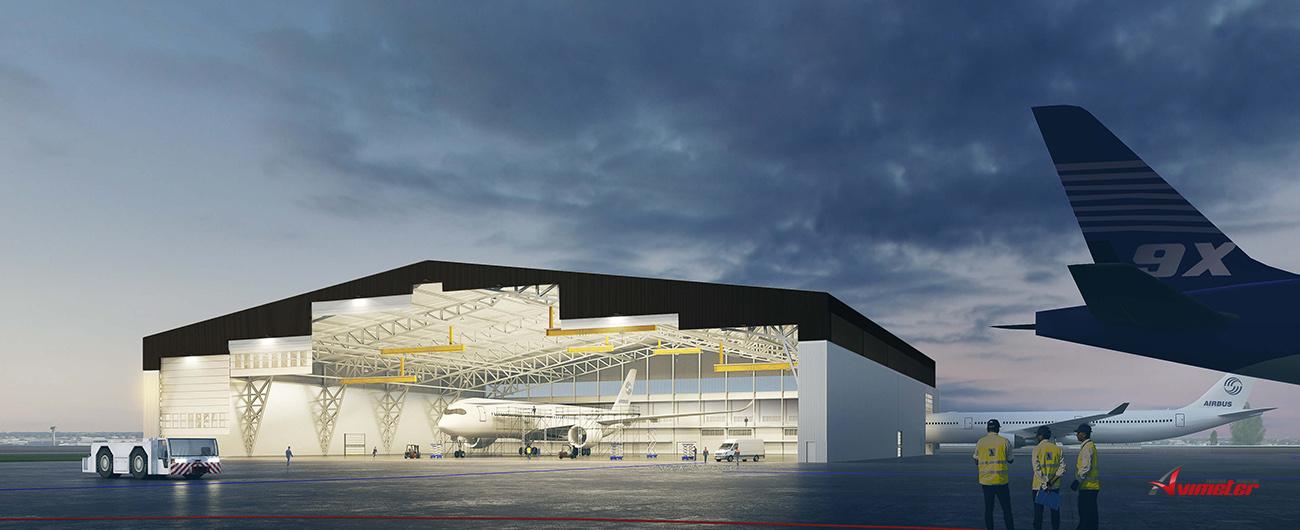 Construction of Sabena technics' new maintenance hangar has started!