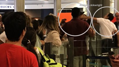 Airport worker punches Easyjet passenger holding a baby