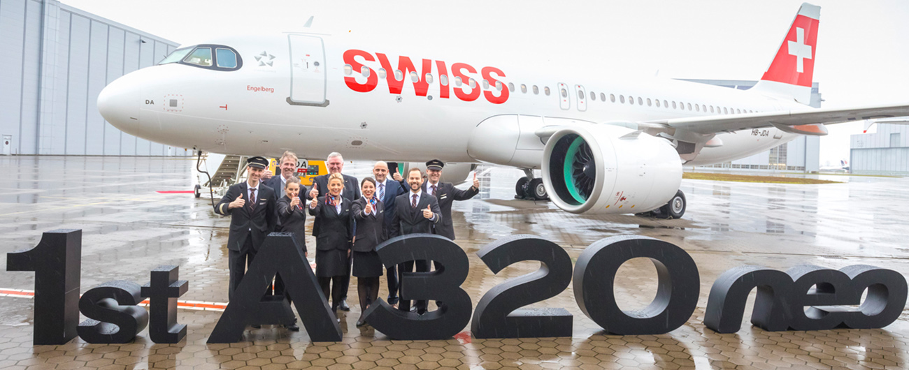 SWISS welcomes its first Airbus A320neo