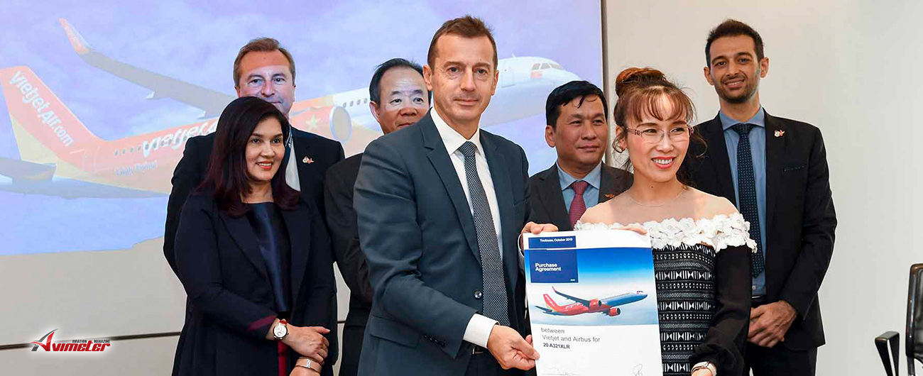 Vietjet orders A321XLR and signs Airbus training services agreement