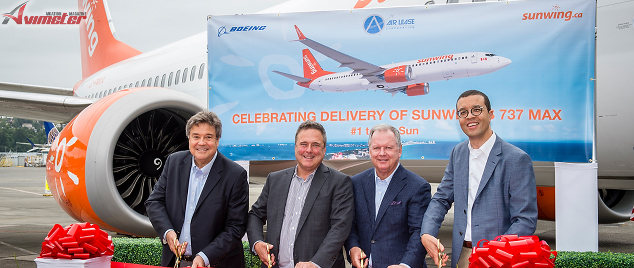 Boeing 737 MAX 8 joins Sunwing Fleet; inaugural flight Seattle-Toronto brings first of four aircraft home