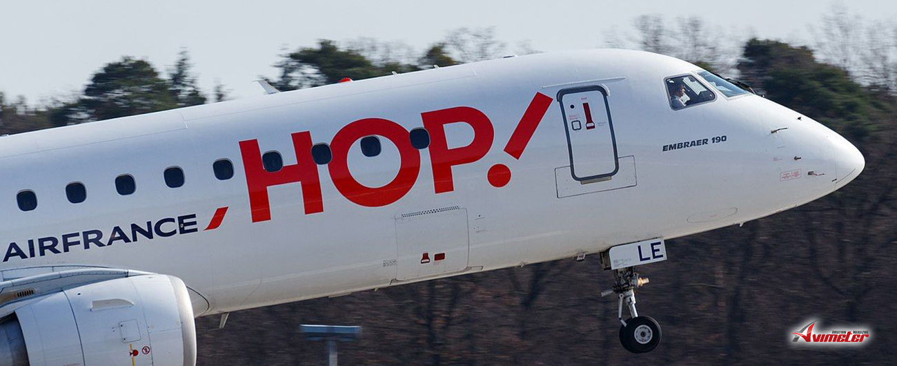 NAC delivered one new Embraer E190, MSN 19000770, to HOP! on lease