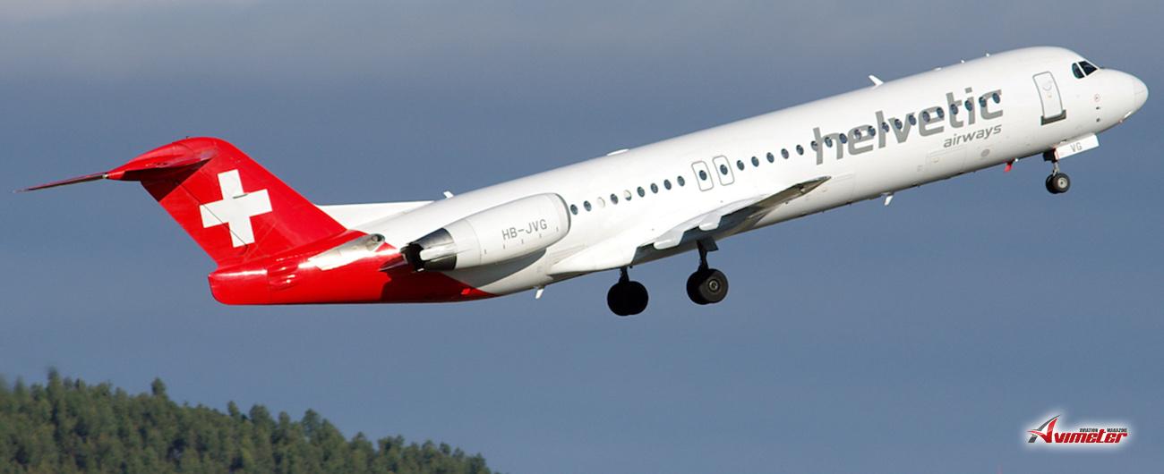 Helvetic Airways sells fleet of Fokker 100 aircraft