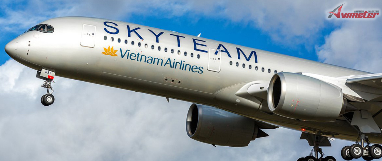 Vietnam Airlines welcomes the 12th A350 with SkyTeam livery to its fleet
