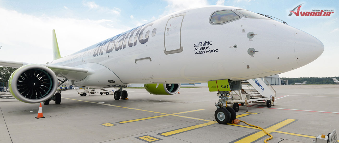 airBaltic Receives New Airbus A220-300 Aircraft