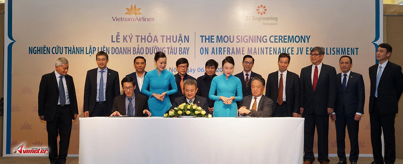 ST Engineering and Vietnam Airlines to Explore Setting up Airframe MRO in Vietnam