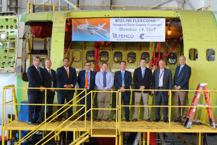 PEMCO holds ceremony for B737-700 conversion program