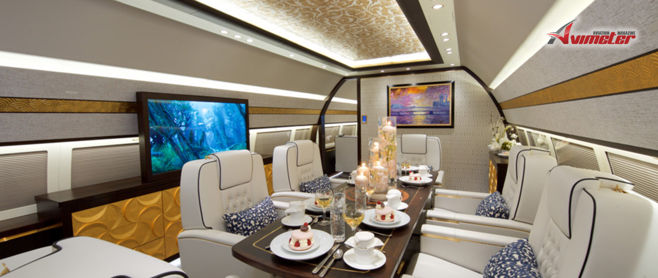 Comlux completes its 11th VIP cabin completion on a BBJ