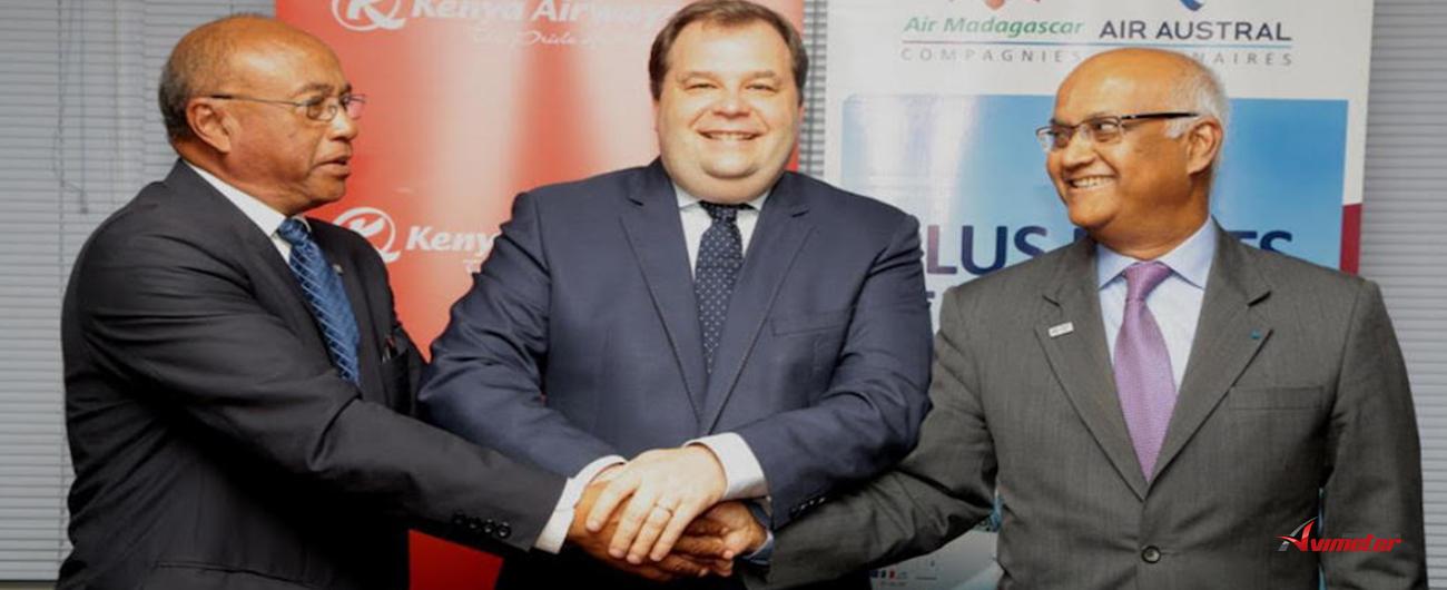 """Air Austral, Air Madagascar et Kenya Airways: officialisent leur """"accord de partenariat privilégié"""""""