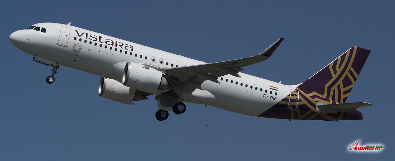 Vistara receives three new airbus A320neo with enhanced performance and cabin features