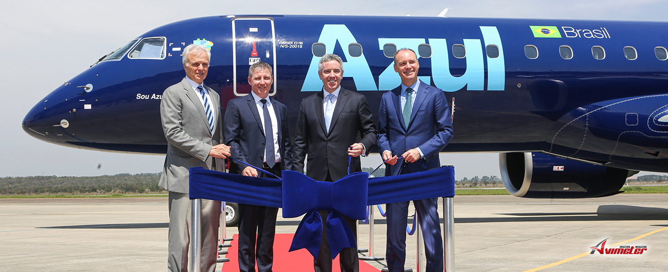 AerCap Celebrates the Delivery of the First Embraer E195-E2 to Azul