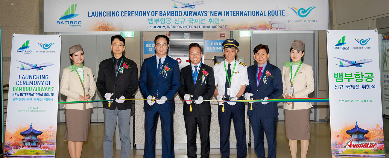 Bamboo Airways Welcomed Flight Marking Operation of Regular Route Connecting Vietnam – Korea
